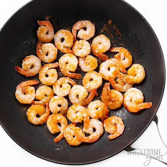 sauteed shrimp for low carb shrimp scampi