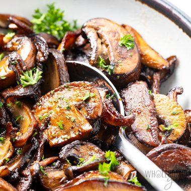 Sauteed Mushrooms Recipe in Garlic Butter