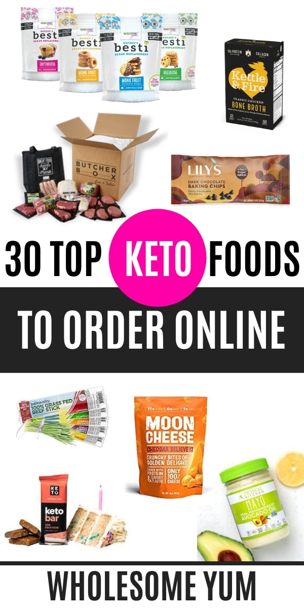 If you're limiting carbs, sometimes you'll need to buy keto food online. This list of the top 30 (tried and tested!) keto foods to buy is a perfect start to stocking your pantry and freezer.