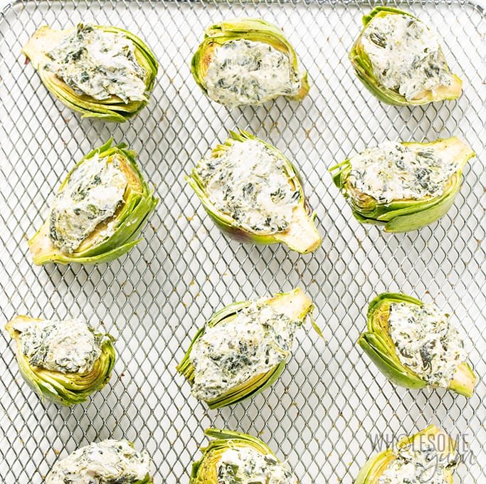 stuffed air fryer artichokes