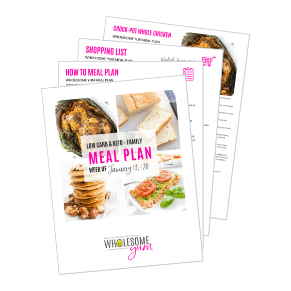 Easy Keto Meal Plan printed pages