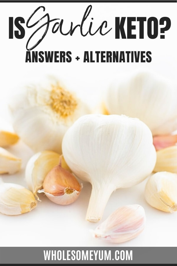 Is garlic keto? Find out in this guide, complete with carbs in garlic, garlic keto recipes, and more.