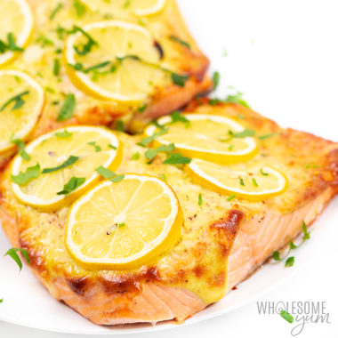 baked salmon recipe with garlic aioli Detail: keto-lemon-garlic-baked-salmon-recipe-16