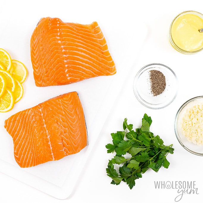 ingredients for oven baked salmon