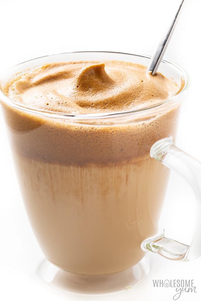 mug of whipped coffee