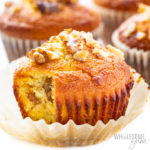 keto banana muffins showing inside