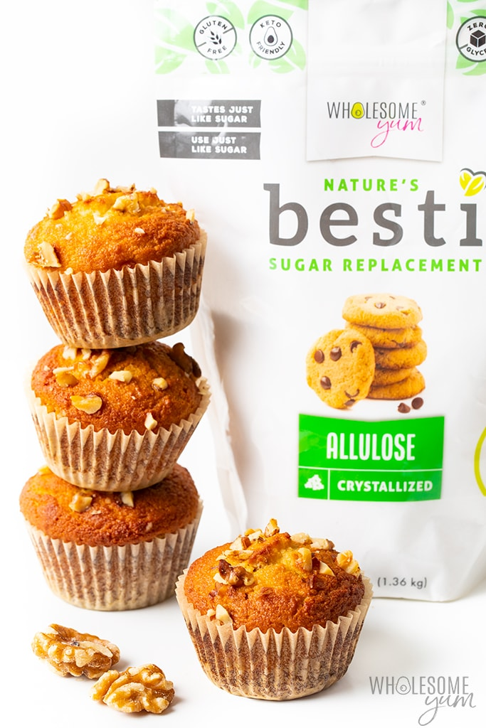 keto banana nut muffins with besti