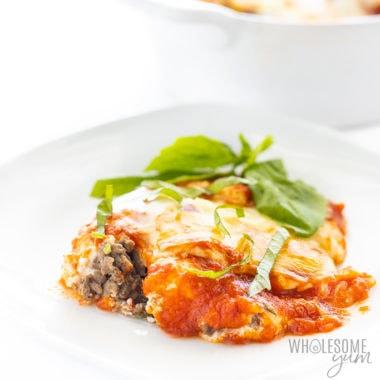 piece of no noodle lasagna