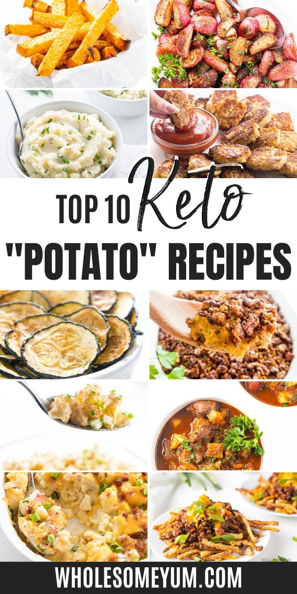 Are potatoes keto? No, but these recipes with keto potato substitutes taste just like the real thing.