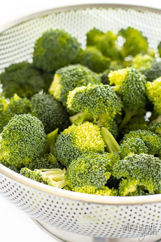 Is broccoli keto? The broccoli florets in this photo are keto friendly.