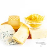 Is cheese keto friendly? This image shows many different types of cheeses - and they are all great for keto.