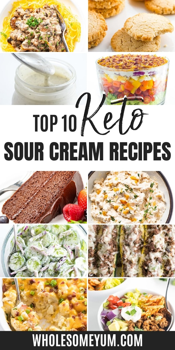 Is sour cream keto? Sour cream is keto friendly, including these keto sour cream recipes!