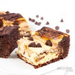 keto cheesecake brownies with chocolate chips