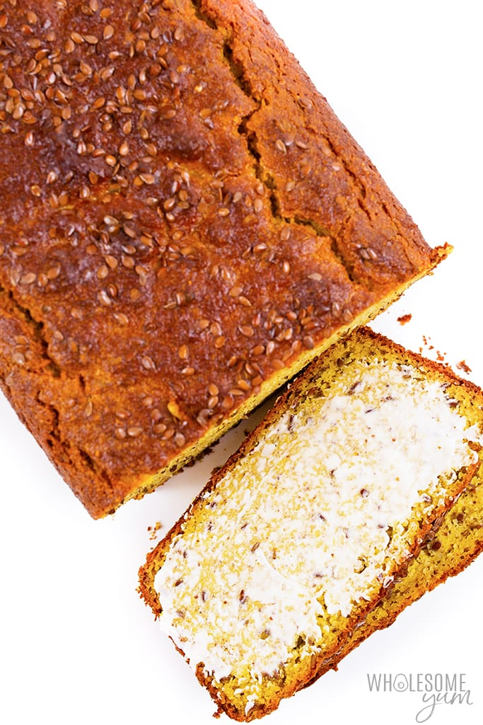 flaxseed bread with slices