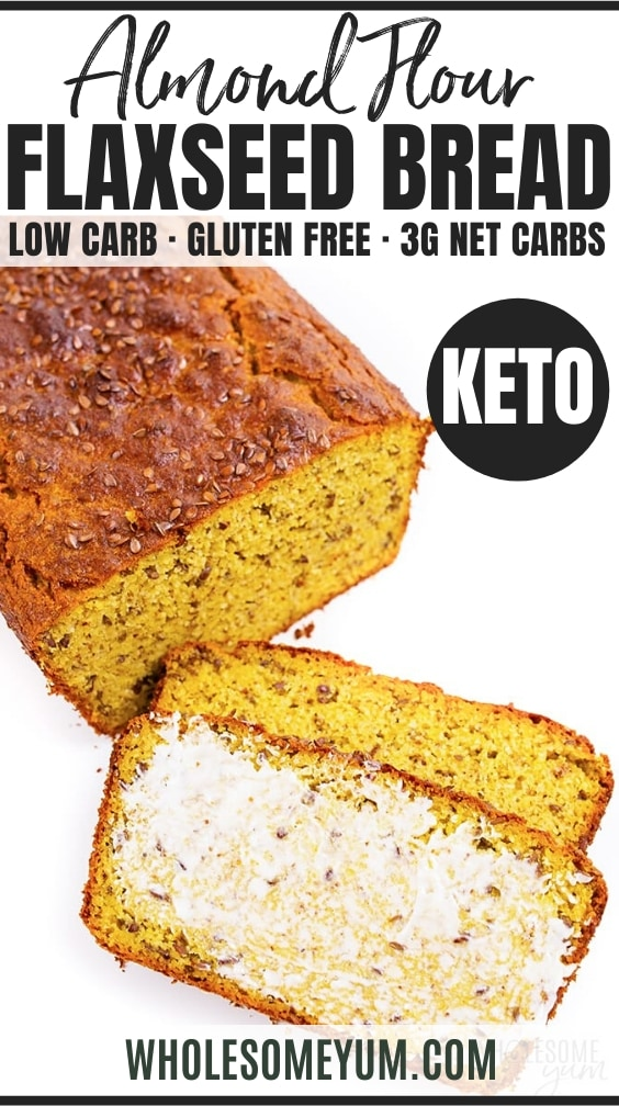 keto flaxseed bread - pinterest