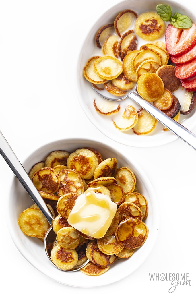 two bowls of low carb pancake cereal