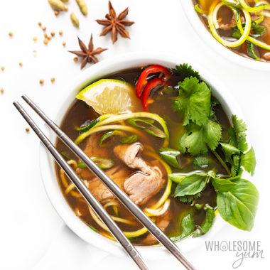 bowl of keto pho Detail: low-carb-keto-pho-recipe-14