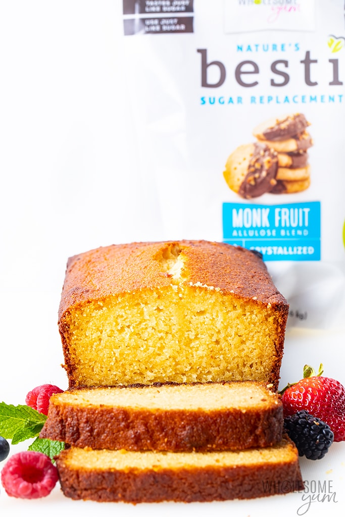 Almond flour pound cake with sugar-free Besti sweetener