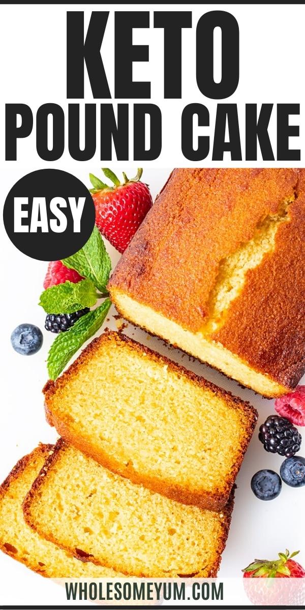 keto almond flour pound cake - pinterest