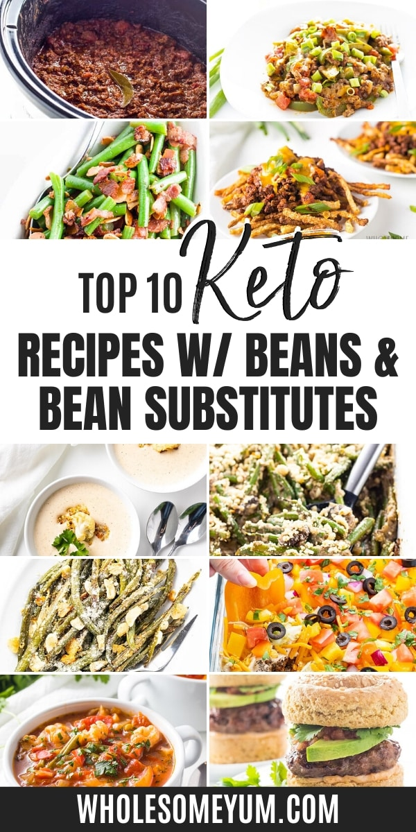 Are beans keto? Some are -- find keto bean recipes (including bean substitutes) here!