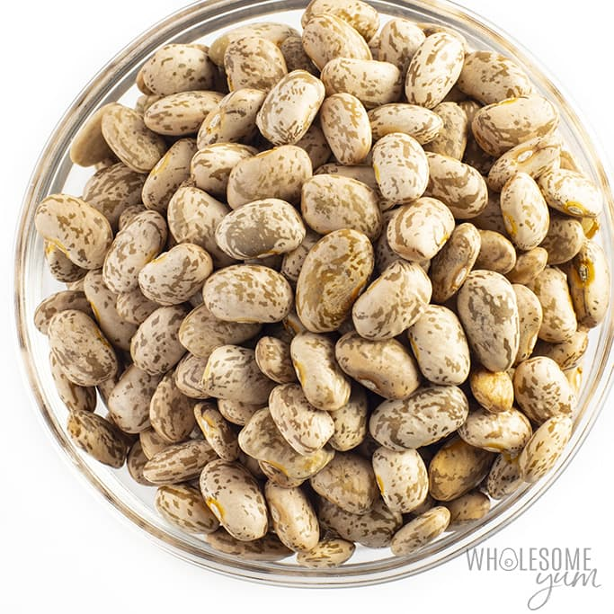 Are pinto beans keto? No, the pinto beans in this photo are not keto.