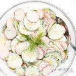 bowl of cucumber and radish salad