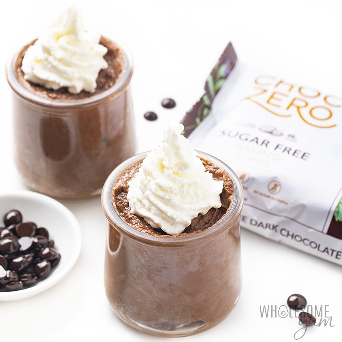 low carb chocolate mousse with choc zero