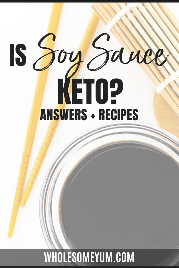 Is soy sauce keto? Find out here: This guide breaks down everything you need to know about keto and soy sauce, including net carbs in soy sauce and keto soy sauce recipes (with alternatives).