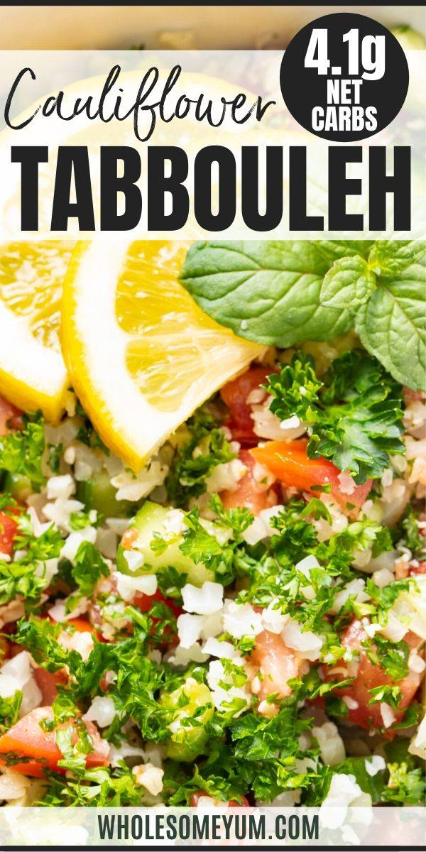 cauliflower tabbouleh - pinterest