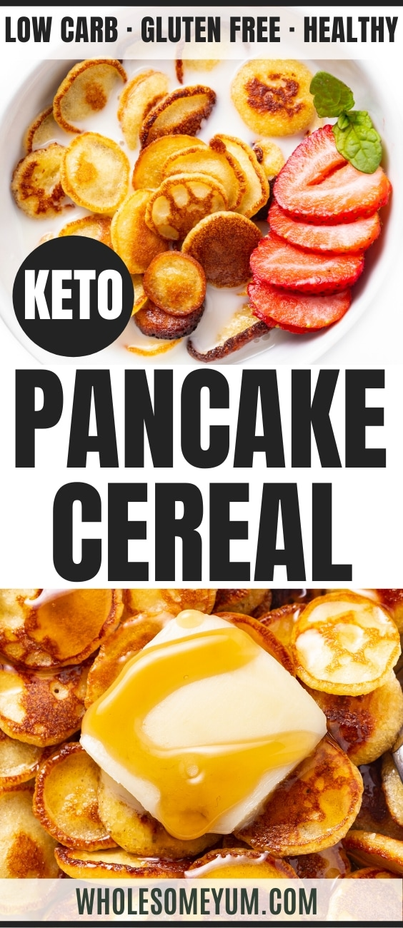 Keto Pancake Cereal Recipe - Pinterest Image