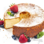 low carb angel food cake with berries