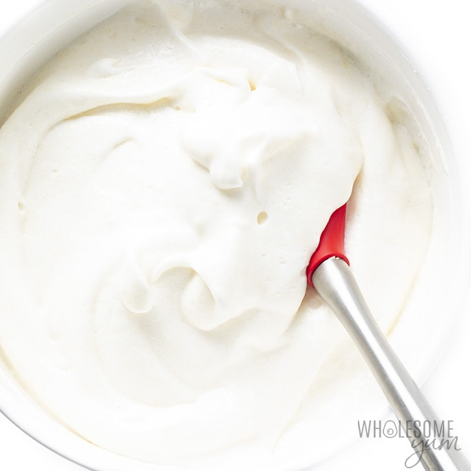 Prepared angel food cake batter