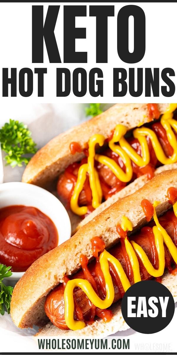 Keto hot dog buns recipe - Pinterest