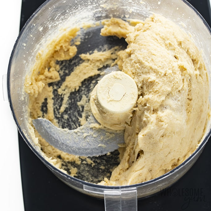 dough for low carb hot dog buns in food processor