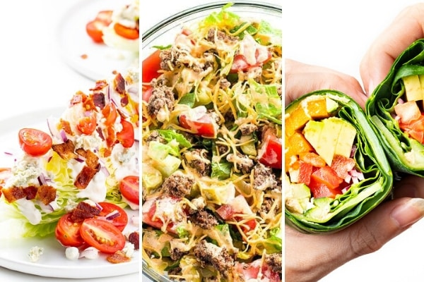 Keto recipes with lettuce and greens
