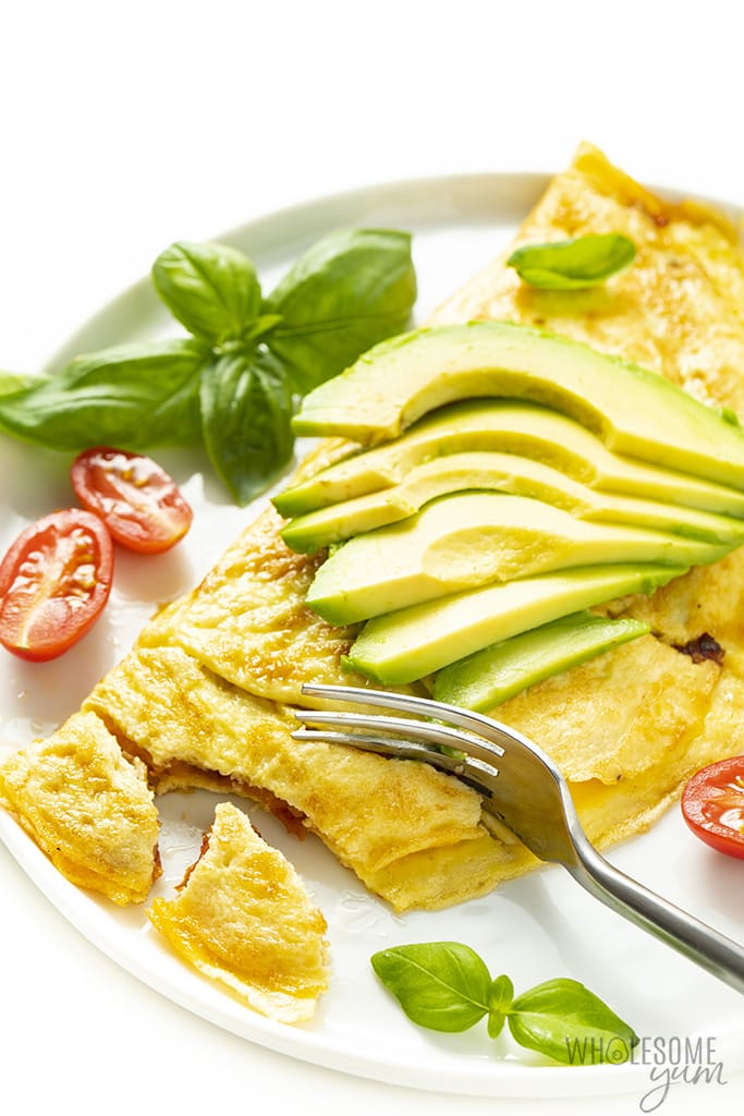 avocado omelette on a plate