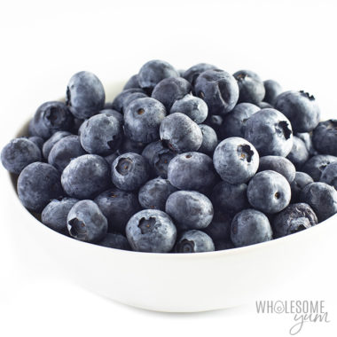 Are blueberries keto? These blueberries in a bowl are keto friendly.