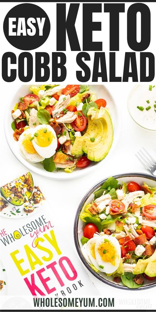 Keto cobb salad recipe - pin image
