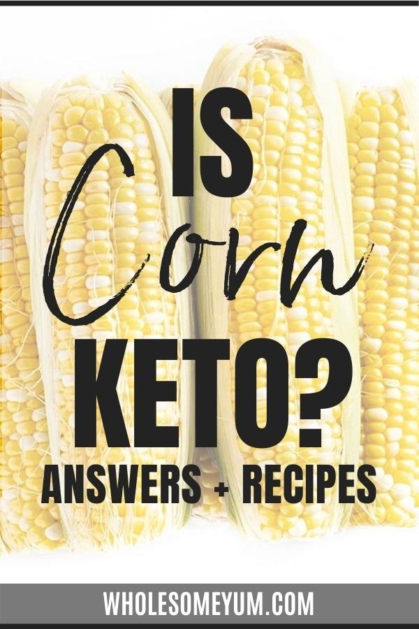 corn okay for keto diet