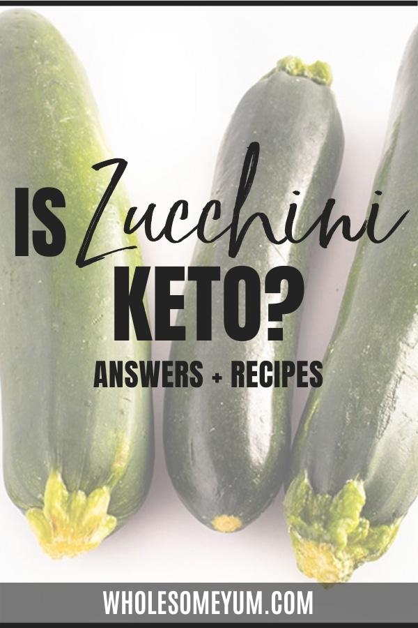 Is zucchini keto? Learn here! We'll break down carbs in zucchini, plus zucchini keto recipes.
