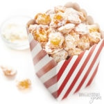 snack bucket with keto popcorn