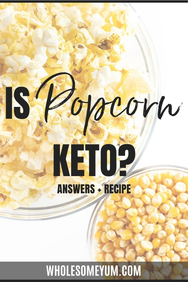 can i have popcorn on a ketogenic diet
