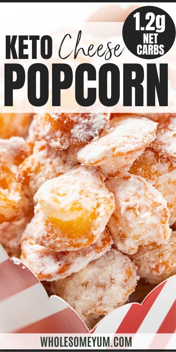 keto popcorn puffed cheese - pinterest