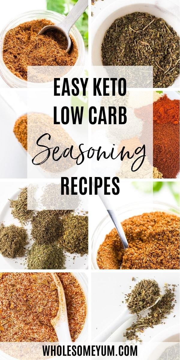 keto seasoning pinterest image