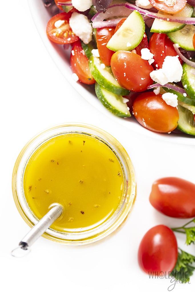 best Greek salad dressing recipe with salad