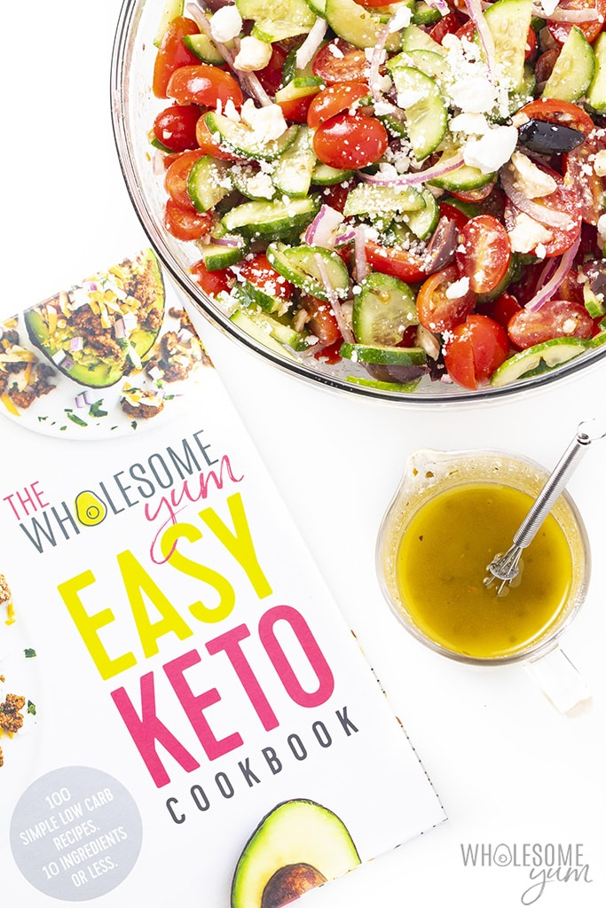 Greek salad dressing from the Easy Keto Cookbook