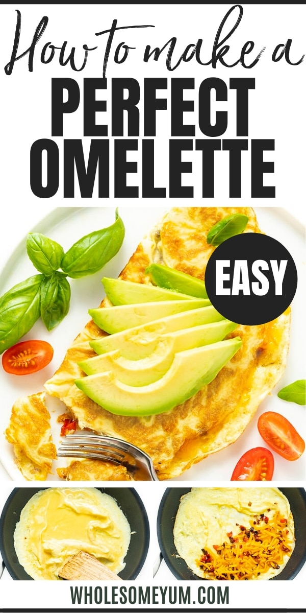 How to make a perfect omelette - pin image
