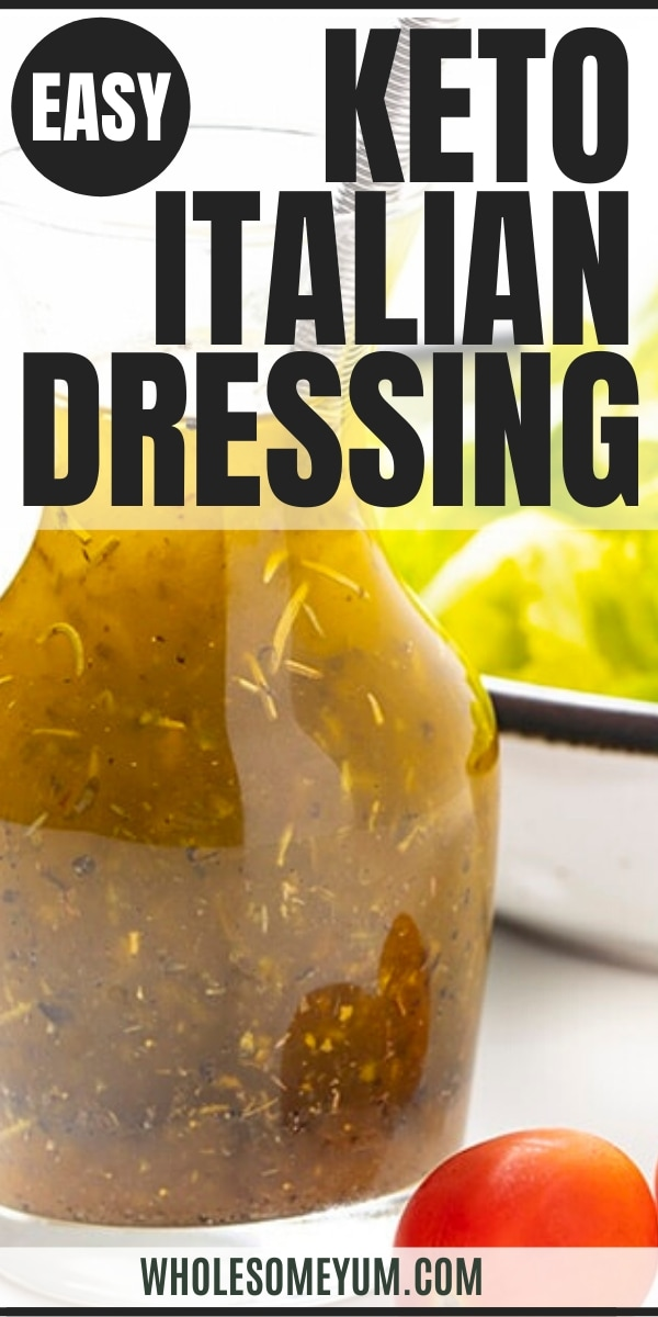 Easy keto Italian dressing recipe - pin image