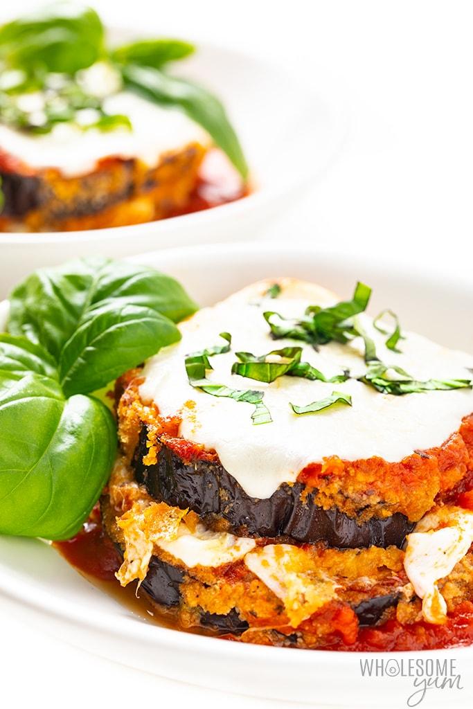 Healthy Keto Eggplant Parmesan Recipe Wholesome Yum