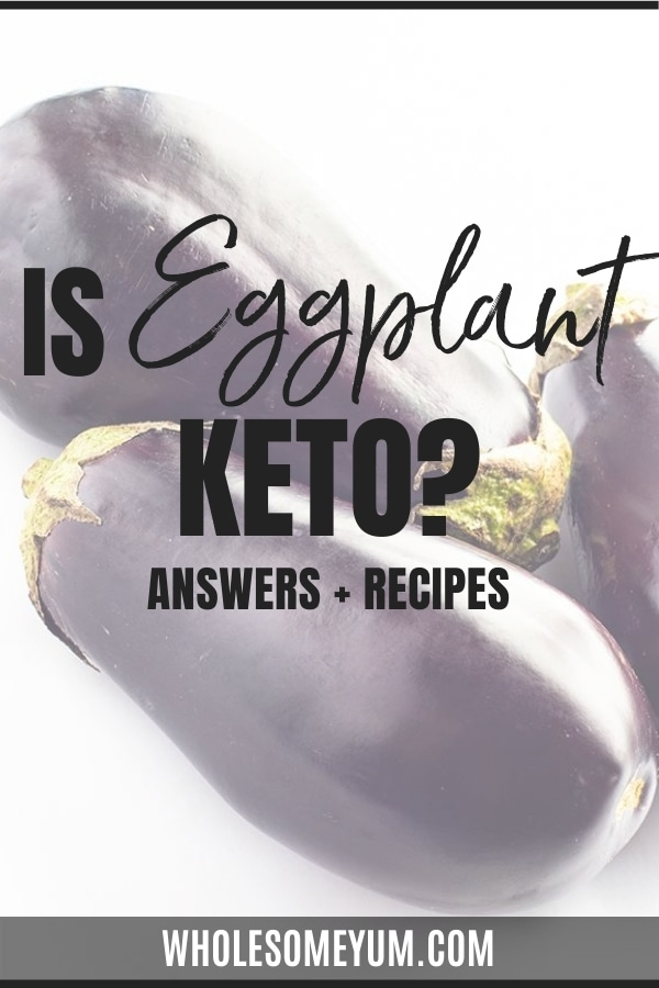 Is eggplant keto friendly? Get the guide here, along with carbs in eggplant and recipes for enjoying eggplant on keto.